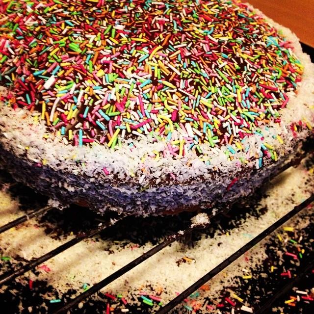 Una bella torta con farina…