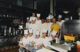 A Malgrate, con la brigata di cucina del ristorante Il Griso