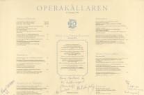 Operakällaren menu