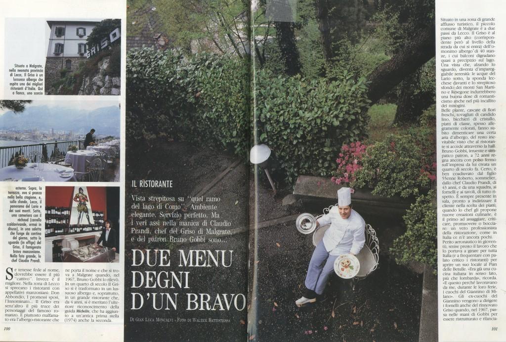 Artaserse Pasqual - Chef - articolo Il Griso di Malgrate - Como