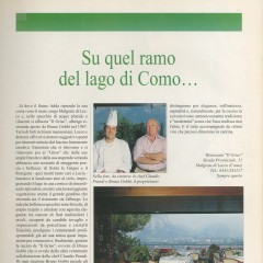 Article about Il Griso restaurant