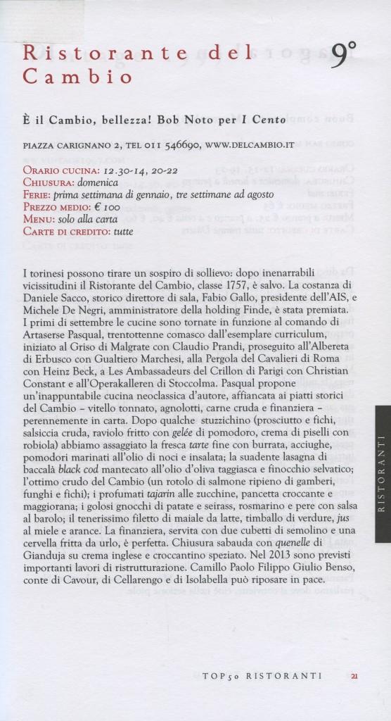 I cento di Torino 2013 - Il Cambio