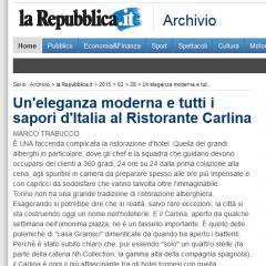 Un' eleganza moderna al Ristorante Carlina